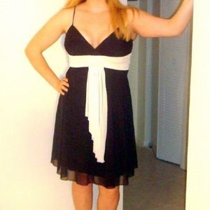 Perfect little black (and white) dress